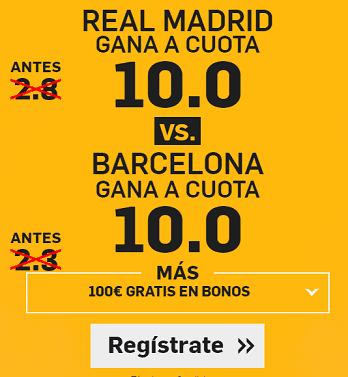 Supercuota Betfair Real Madrid vs Barcelona