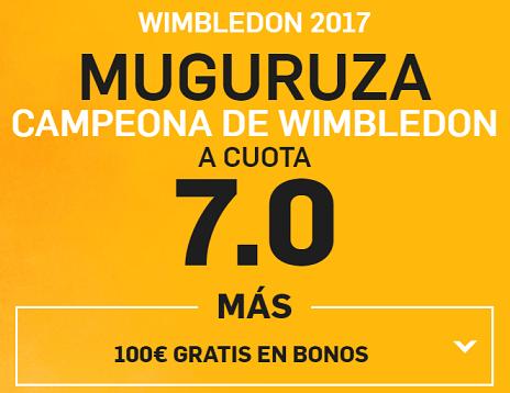 Supercuota Betfair Wimbledon 2017 Muguruza gana a cuota 7.0