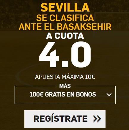 Supercuota Betfair Sevilla gana Basaksehir