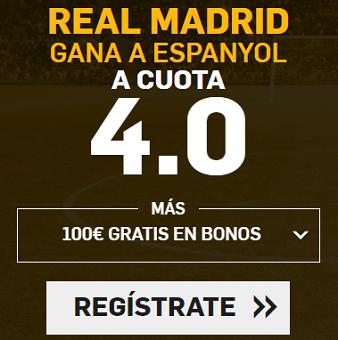 Supercuota Betfair la Liga - Real Madrid vs Espanyol cuota 4.0