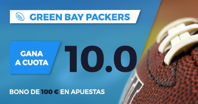 Supercuota Paston NFL - Green Bay Packers gana a cuota 10.00