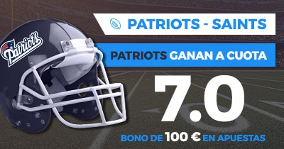 Supercuota Paston NFL Patriots - Saints