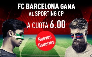 Supercuota Sportium Champions - FC Barcelona gana al Sporting CP a cuota 6.00