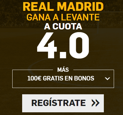 Supercuotas Betfair Real Madrid Levante