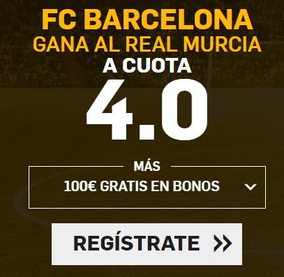 Supercuota Betfair FC Barcelona - Real Murcia