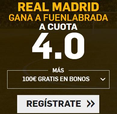 Supercuota Betfair la liga - Real Madrid gana Fuenlabrada