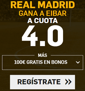Supercuota Betfair la liga - Real Madrid gana a Eibar
