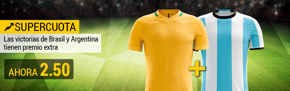 Supercuota Bwin mundial futbol - Brasil y Argentina ganan a cuota 2.50