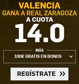Supercuota Betfair Copa del Rey Valencia - Zaragoza