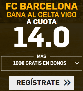 Supercuota Betfair la Liga FC Barcelona gana Celta vigo
