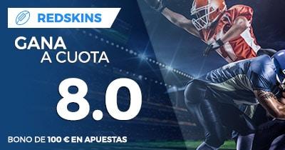 Supercuota NFL Redskins ganan a cuota 8.0