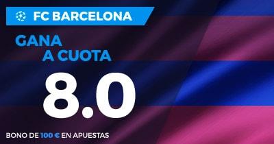Supercuota Paston Champions FC Barcelona gana a cuota 8.0