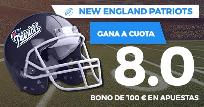 Supercuota Paston NFL - New England Patriots gana a cuota 8.0