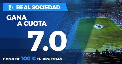 Supercuota Paston Real Sociedad gana cuota 7.0