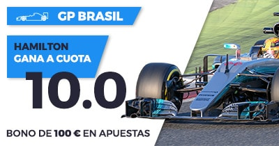 Supercuota Paston f1 GP Brasil - Hamilton gana a cuota 10.0