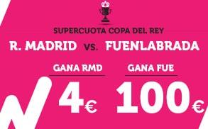 Supercuota Wanabet Copa del Rey Madrid Fuenla