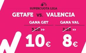 Supercuota Wanabet la Liga Getafe vs Valencia