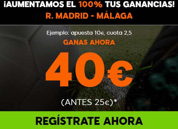Supercuotas 888sport la liga R. Madrid Malaga