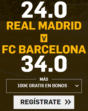Supercuota Betfair Clasico R. Madrid - Barcelona