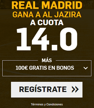 Supercuota Betfair Real Madrid - Al Jazira