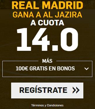 Supercuota Betfair Real Madrid - Al Jazira