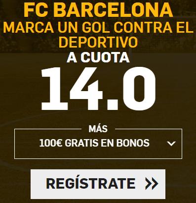 Supercuota Betfair la liga FC Barcelona - Deportivo