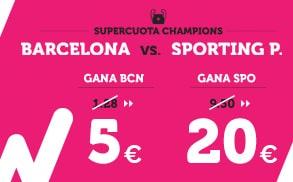 Supercuota Wanabet Champions Barcelona vs Sporting P