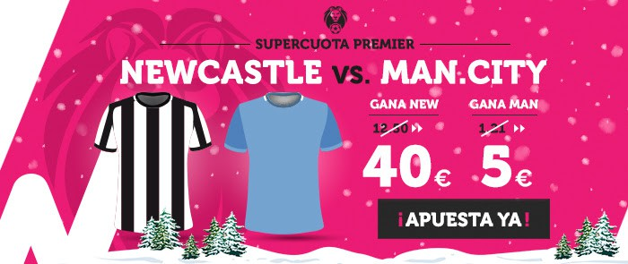 Supercuota Wanabet Premier Newcastle vs Man.City