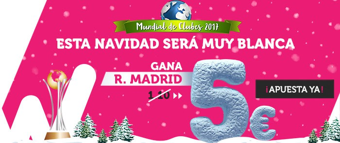 Wanabet Supercuota Mundial Clubes R .Madrid gana