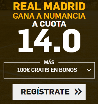 Supercuota Betfair Copa del Rey - R. Madrid vs Numancia
