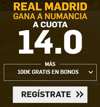 Supercuota Betfair Copa del Rey - R. Madrid vs Numancia