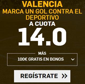 Supercuota Betfair la Liga Valencia - Deport