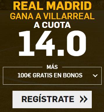 Supercuota Betfair la liga Real Madrid - Villarreal