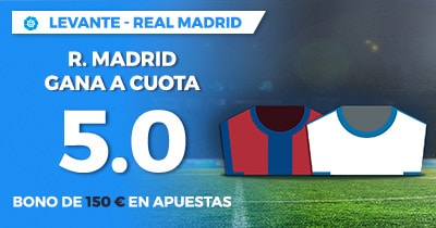 Supercuota Paston la Liga Levante - Real Madrid