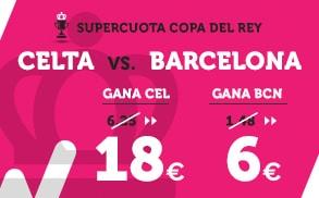 Supercuota Wanabet Copa del Rey Celta - Barcelona