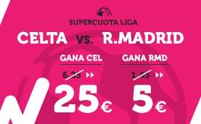Supercuota Wanabet la Liga Celta - R. Madrid