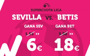 Supercuota Wanabet la Liga Sevilla - Betis