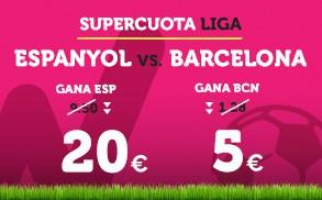 Supercuota Wanabet la liga Espanyol - Barcelona