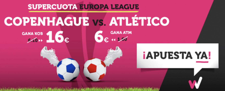 Supercuota Wanabet Europa League Copenhague - Atlético de Madrid