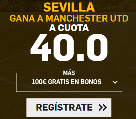 Supercuota Betfair Champions League Sevilla - Manchester UTD