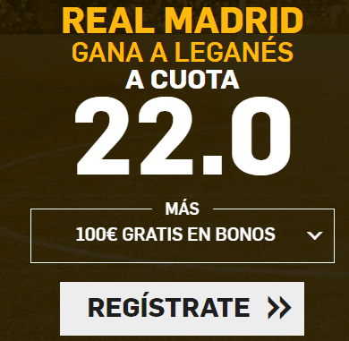 Supercuota Betfair la Liga Real Madrid - Leganes
