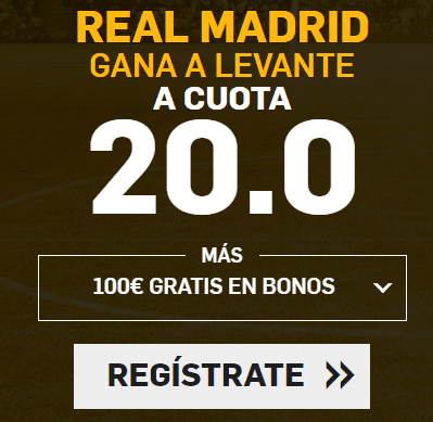 Supercuota Betfair la Liga Real Madrid Levante