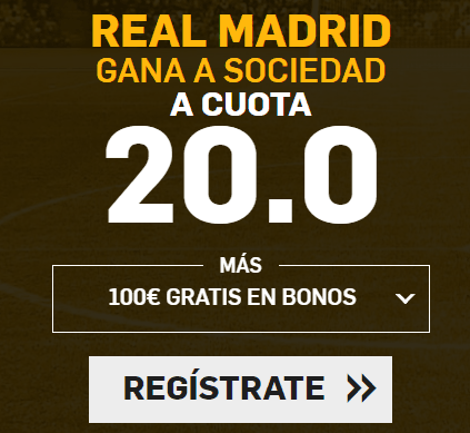 Supercuota Betfair la Liga Real Madrid - R. Sociedad