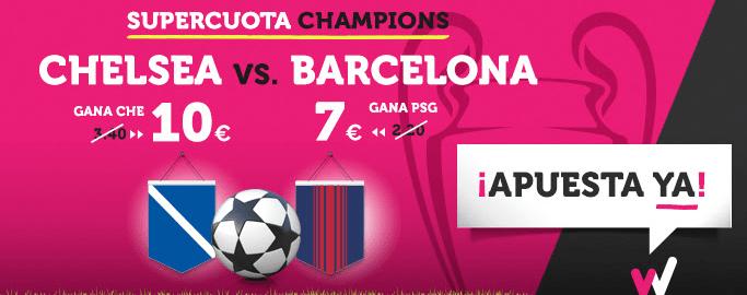 Supercuota Wanabet Champions Chelsea - Barcelona