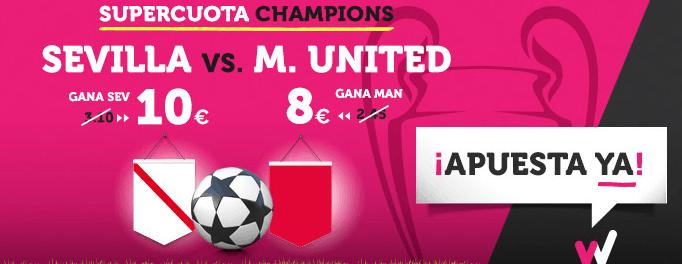 Supercuota Wanabet Champions Sevilla vs M. United