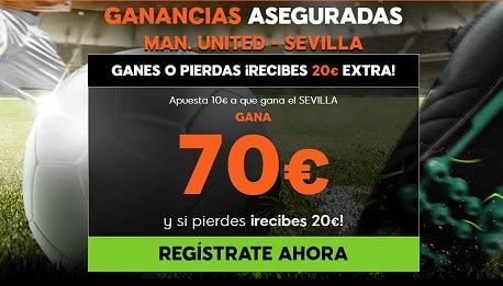 Supercuota 888sport Champions League Man United - Sevilla