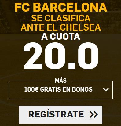 Supercuota Betfair Champions Barcelona - Chelsea