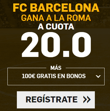 Supercuota Betfair Champions League FC Barcelona - Roma