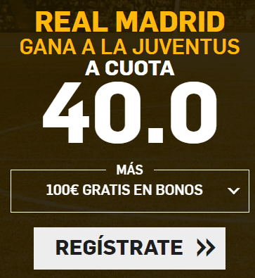 Supercuota Betfair Champions League Real Madrid - Juventus
