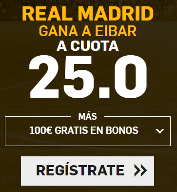 Supercuota Betfair Real Madrid Eibar